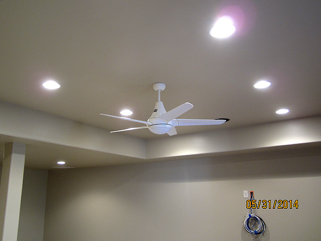 ceiling fan can lights are finished