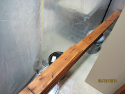 Baseboard is stained prior to installation