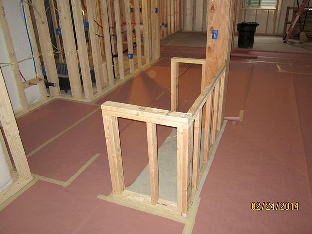 knee walls for bar island