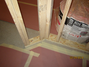 45 degree corners are framed with solid backings