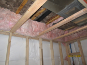 Main drain pipe is covered with insulation