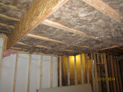 Dropped soffits are insulated