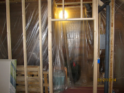 Storage room is protected from dust