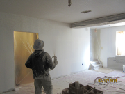 Drywall texture spraying