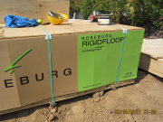 We use plywood not OSB for a higher quality subfloor