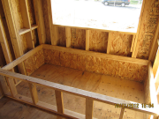 Master tub deck with OSB thermal barrier for insulation