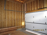 Garage doors are insulated for better climate control