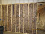 Some interior walls are sound insulated
