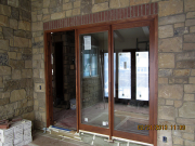 Patio doors stained
