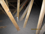 Attic is insulated with cellulose to R-50 value