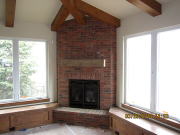 Patio brick fireplace