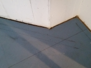 Wall lines are marked on floor
