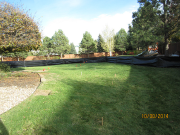 Silt fence around addition site for erosion control