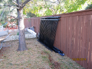 Fence is removed and stored
