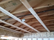 Soffit framing with gas line above