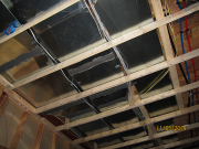Dropped ceiling under ducts