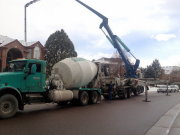 Concrete placed in pump