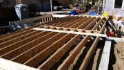 Floor joists are installed
