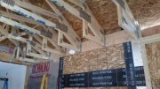 New bolted ledger to hold trusses