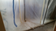 Plastic barrier for dust control