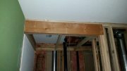 New beam in closet to hold upper floor