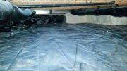 10 mil poly covering over crawlspace floor