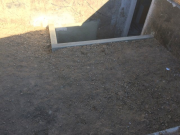 Completed foundation for new stairwell