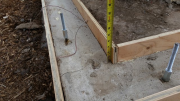 Corrected existing foundation-was 3 inches out of level