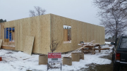 Exterior walls are sheathed