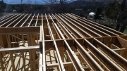 Second floor joists are installed