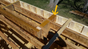 LVL blocks in floor to support rafters