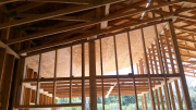 Plywood to hold attic insulation