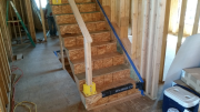 Stairs are protected with OSB