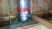 Fireplace flue insulated with Roxul fire insulation
