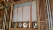 Fireplace walls are insulated