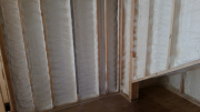 Closed cell foam insulation in all exterior walls