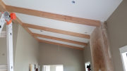 Installing beams in family room