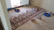 Starting to install brick at entry