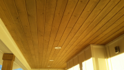 Stained porch soffit