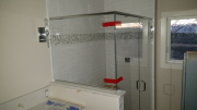 Master shower glass is installed