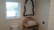 Guest bath vanity custom built by quality craftsman from Texas