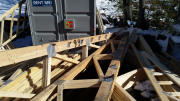 Trusses are prepared with hangers