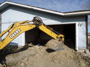 Starting garage excavation