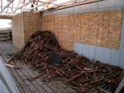 Old shingles to be moved to dumpster