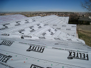 Roof covered with strong wind resistant underlayment