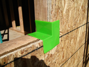 We use Vycor green corners for a better window installation system