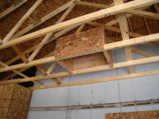 Attic access in new garage ceiling