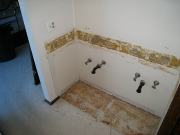 Master bathroom renovation underway