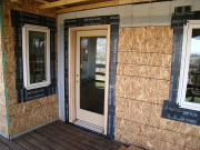 Windows and door at deck area