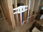 Plumbing in new laundry room